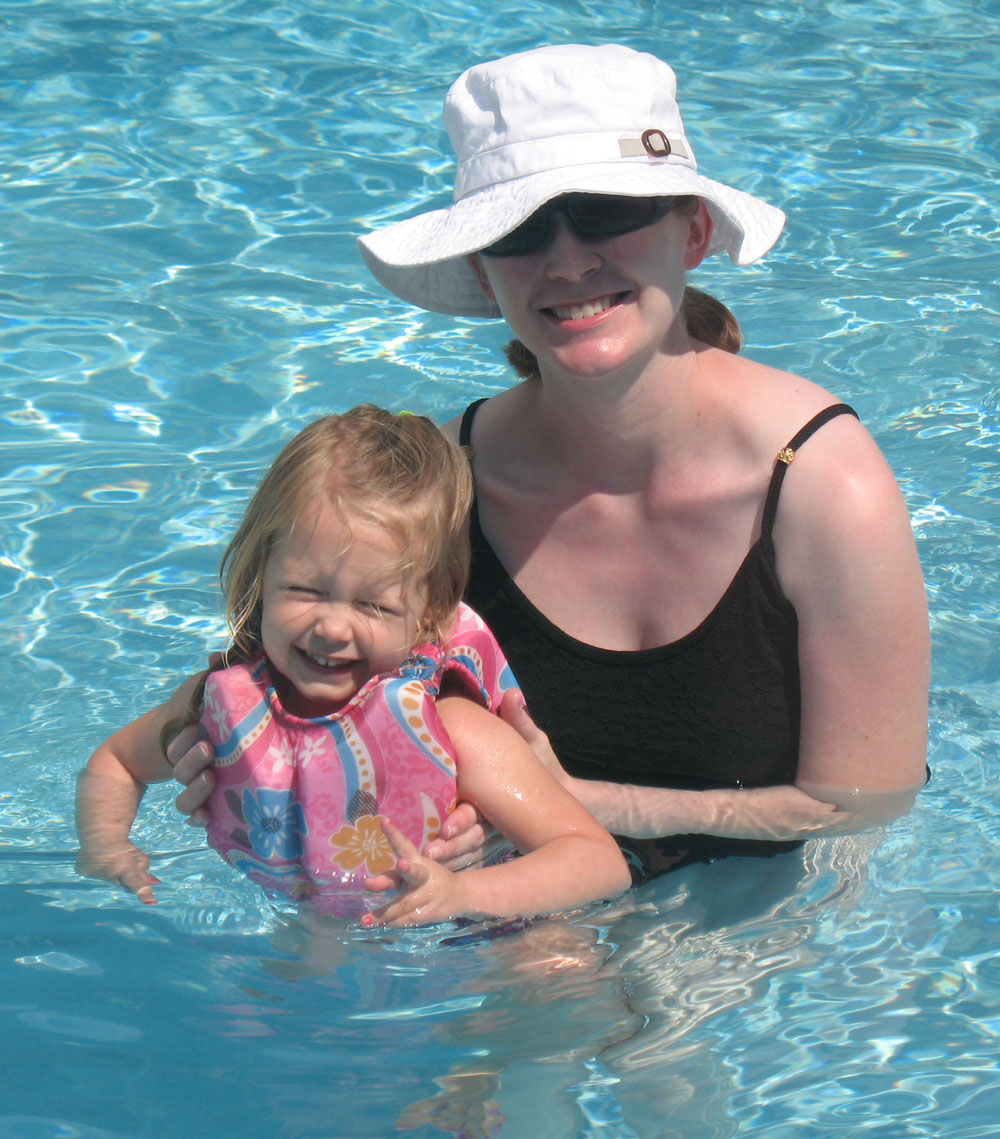 Rachel and Mommy Swimming